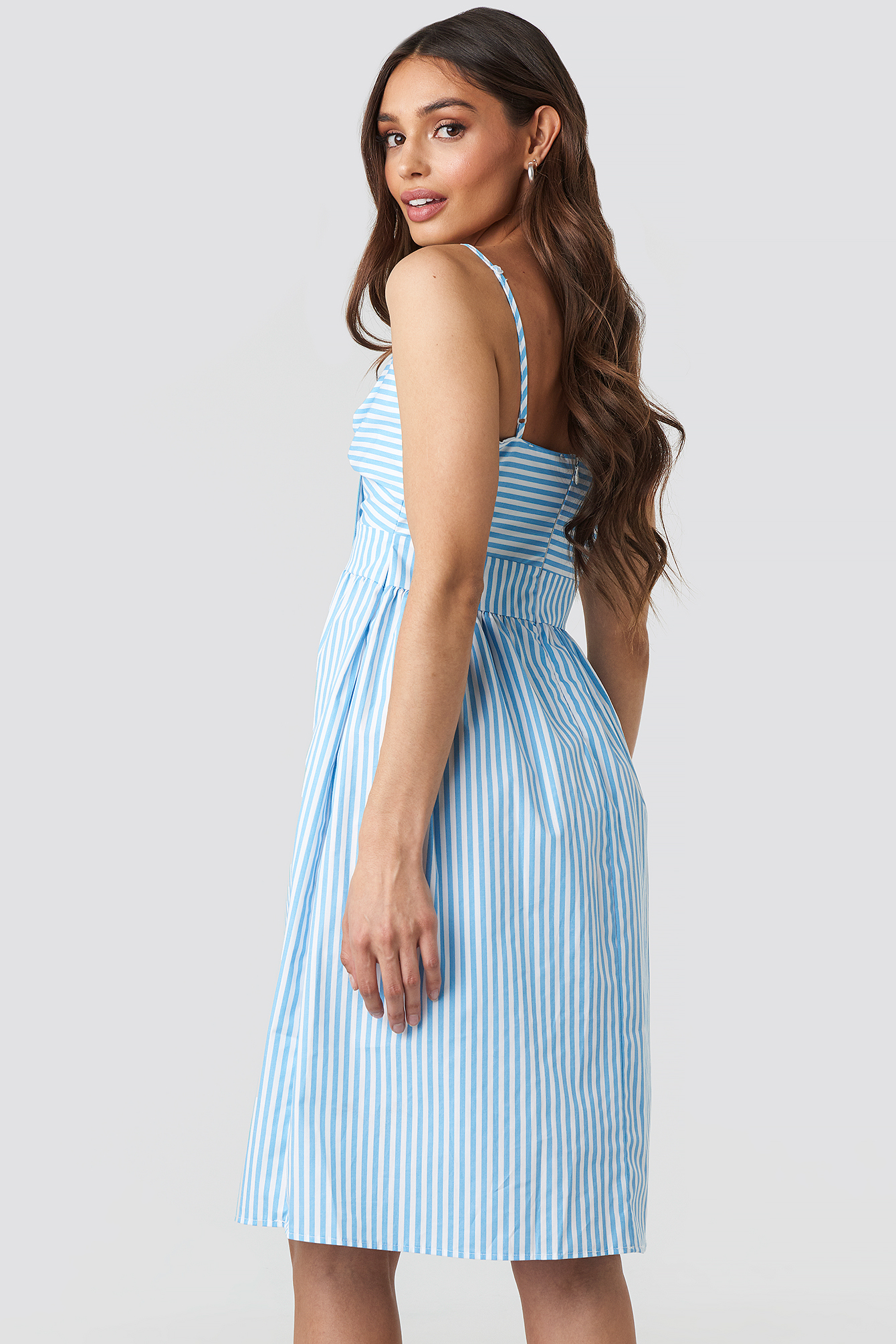 Front Knot Midi Dress NA-KD.COM