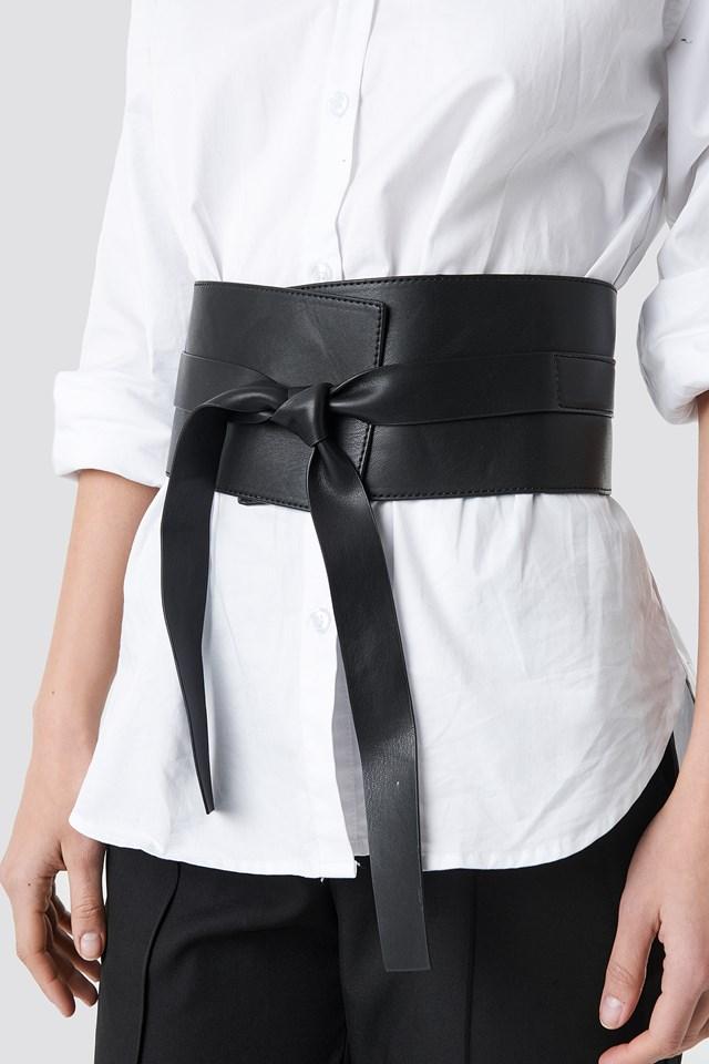 Front Knot Waist Belt Black