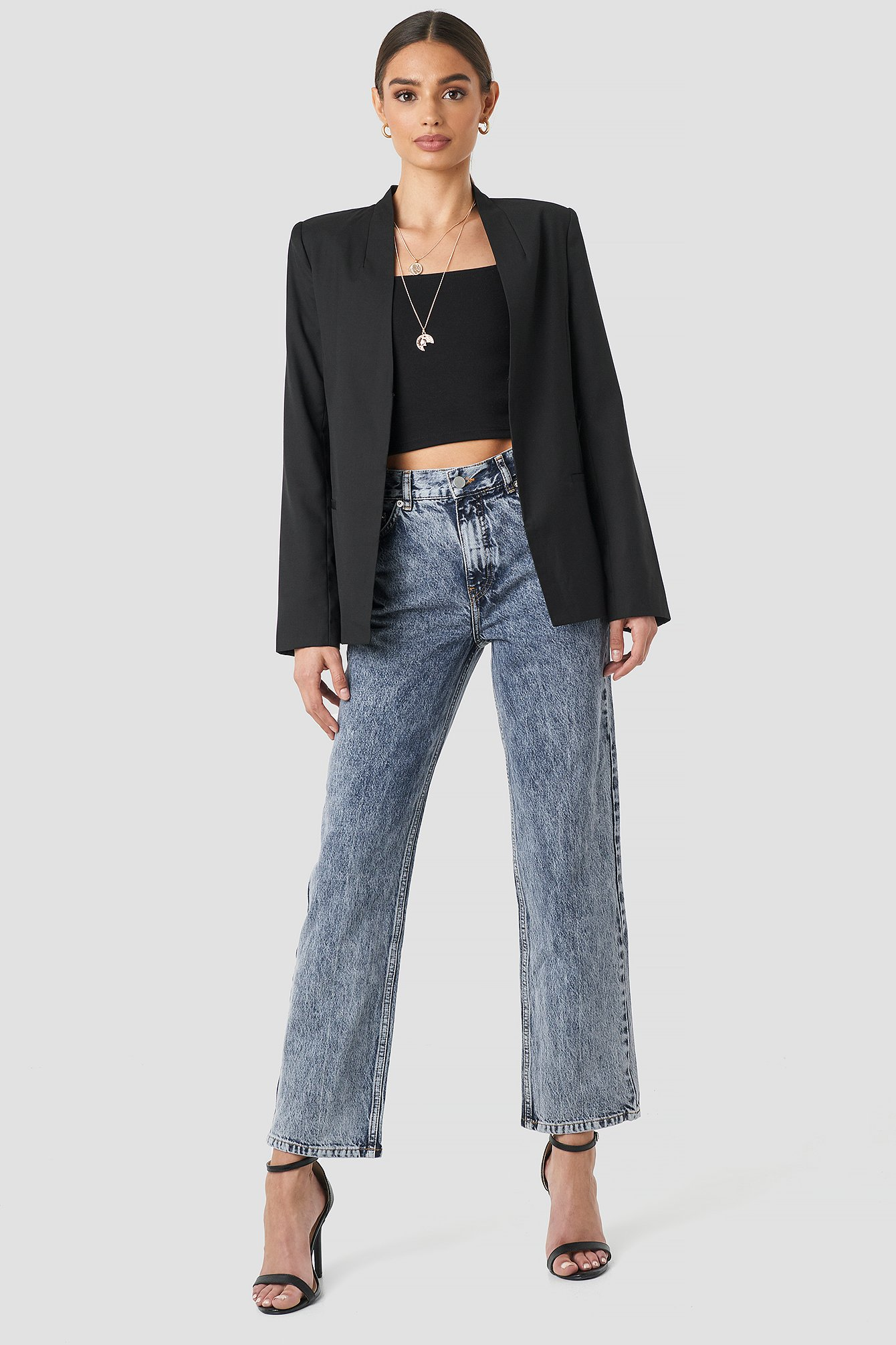 Front Pleat Jeans NA-KD.COM