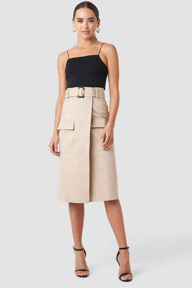 Front Pocket Belted Skirt NA-KD.COM