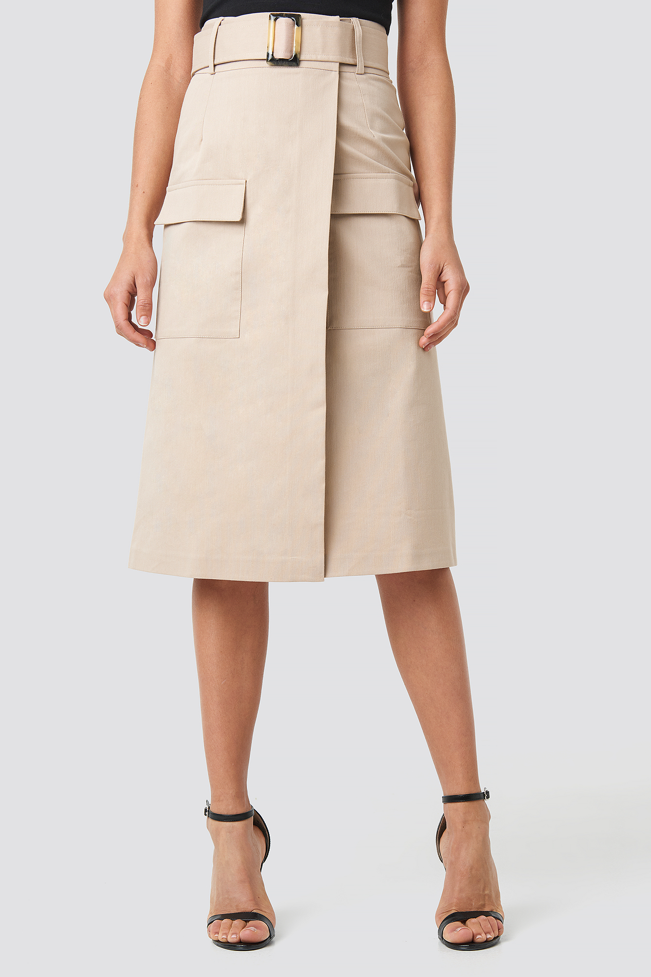 Front Pocket Belted Skirt NA-KD.COM