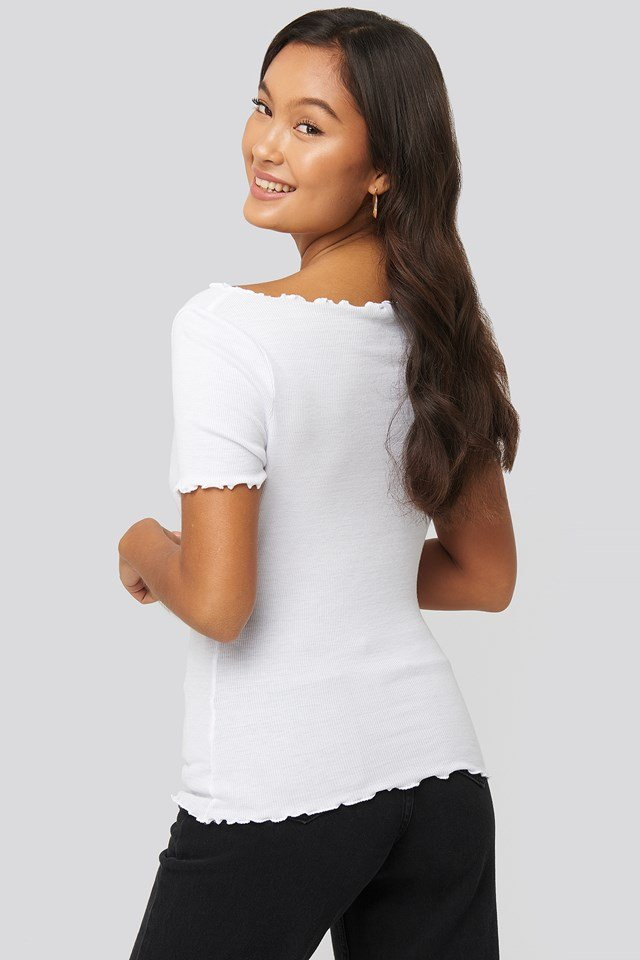 Front Ruched Babylock Top Offwhite