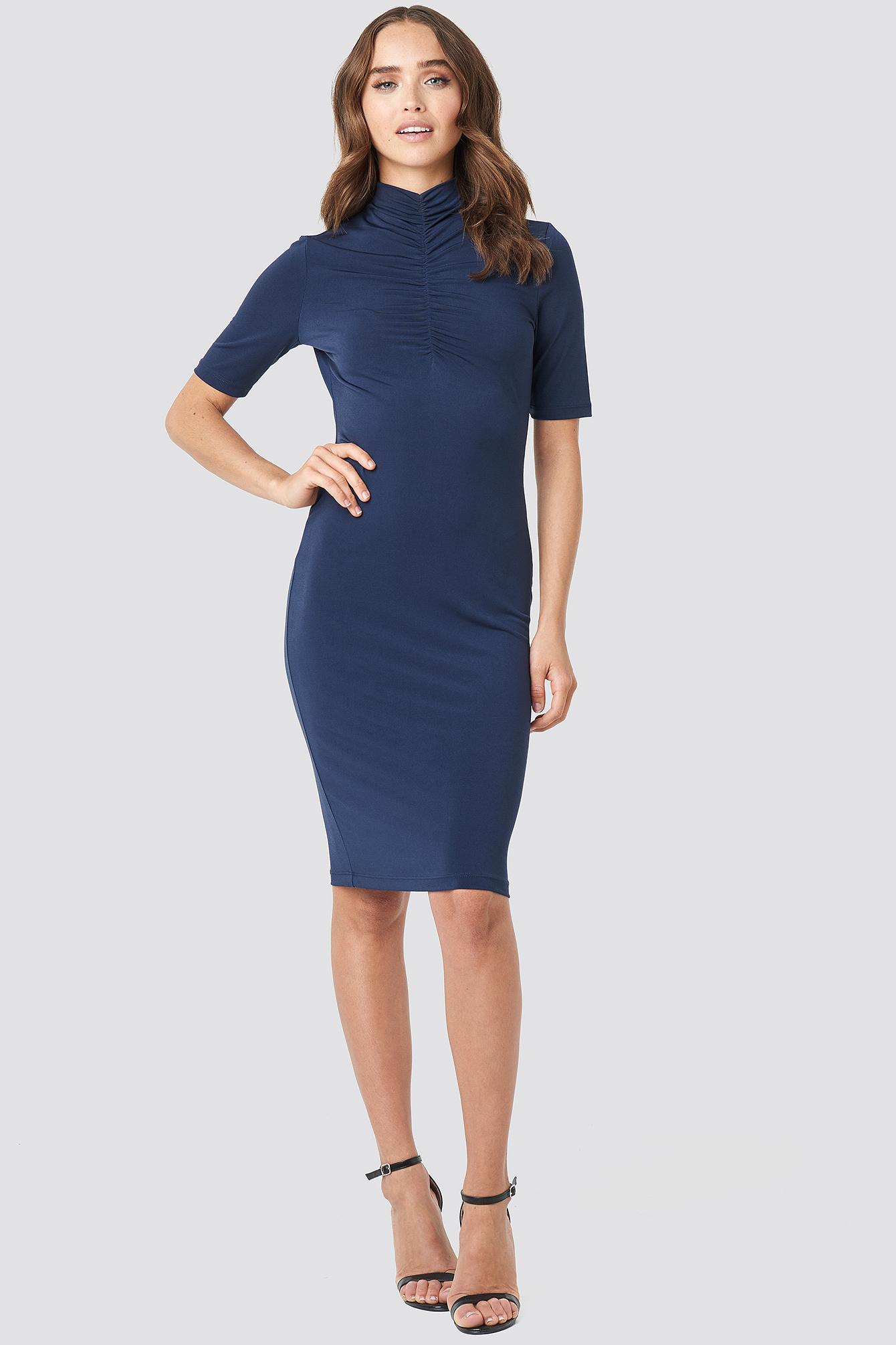 Front Ruching Dress NA-KD.COM