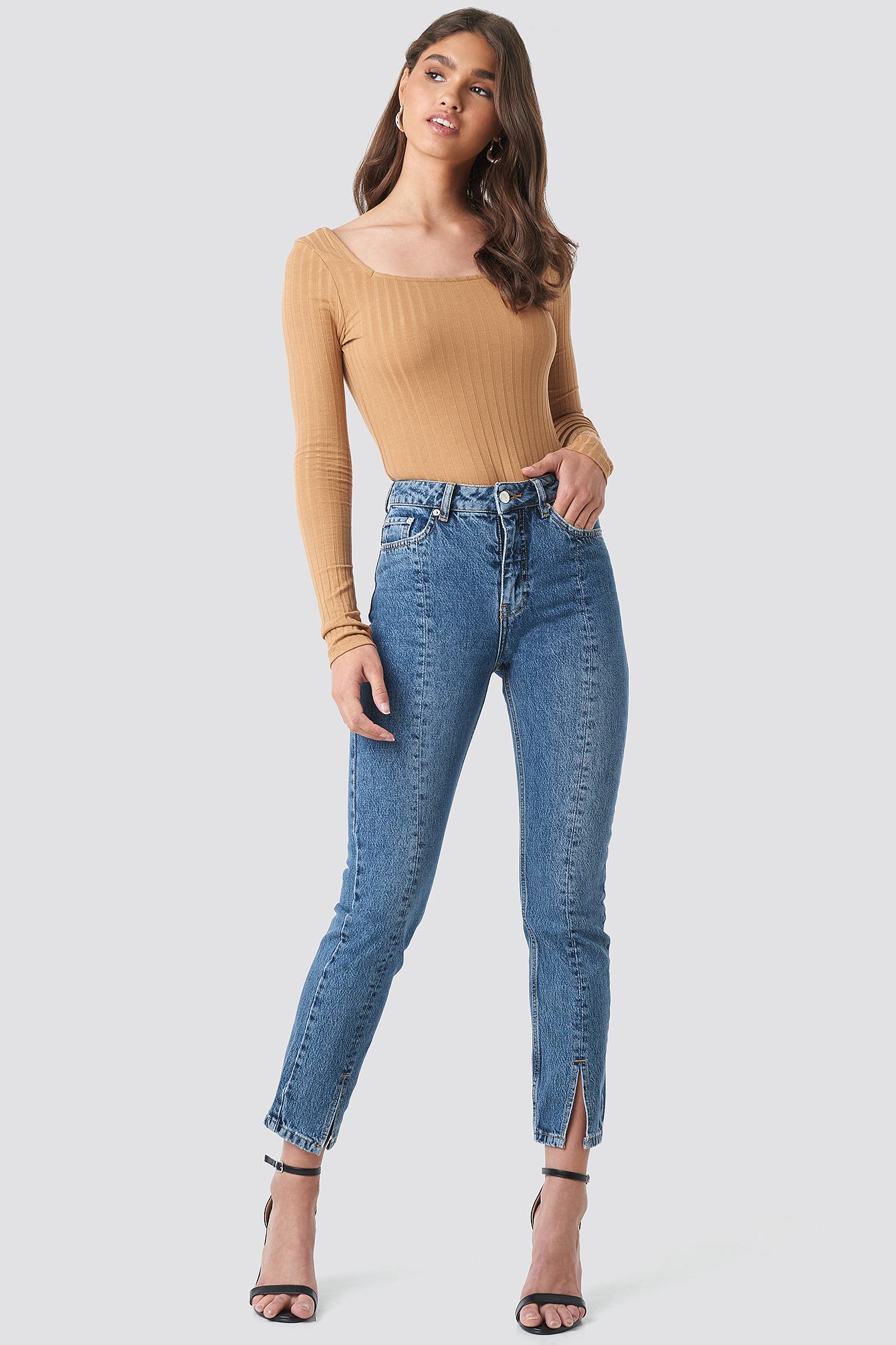 Front Slit Jeans NA-KD.COM