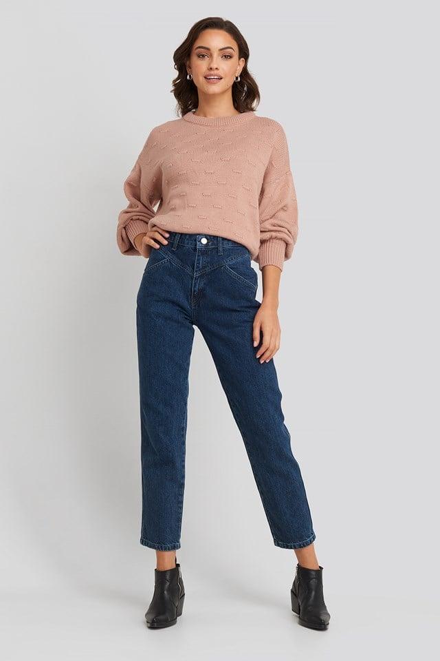 Front Yoke Jeans Mid Blue