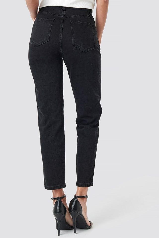 Front Yoke Jeans Black