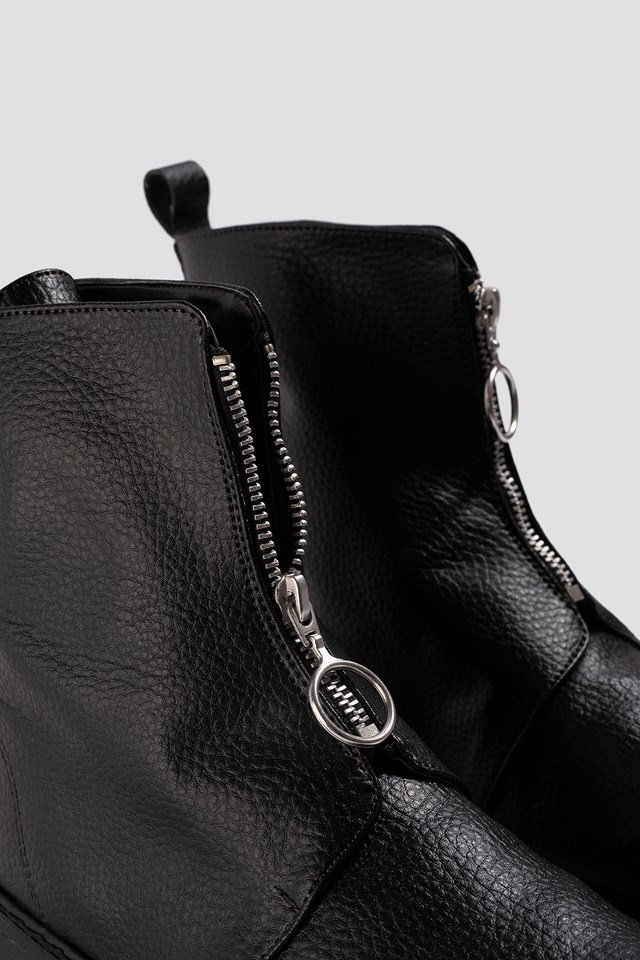 Front Zip Chunky Boots NA-KD.COM