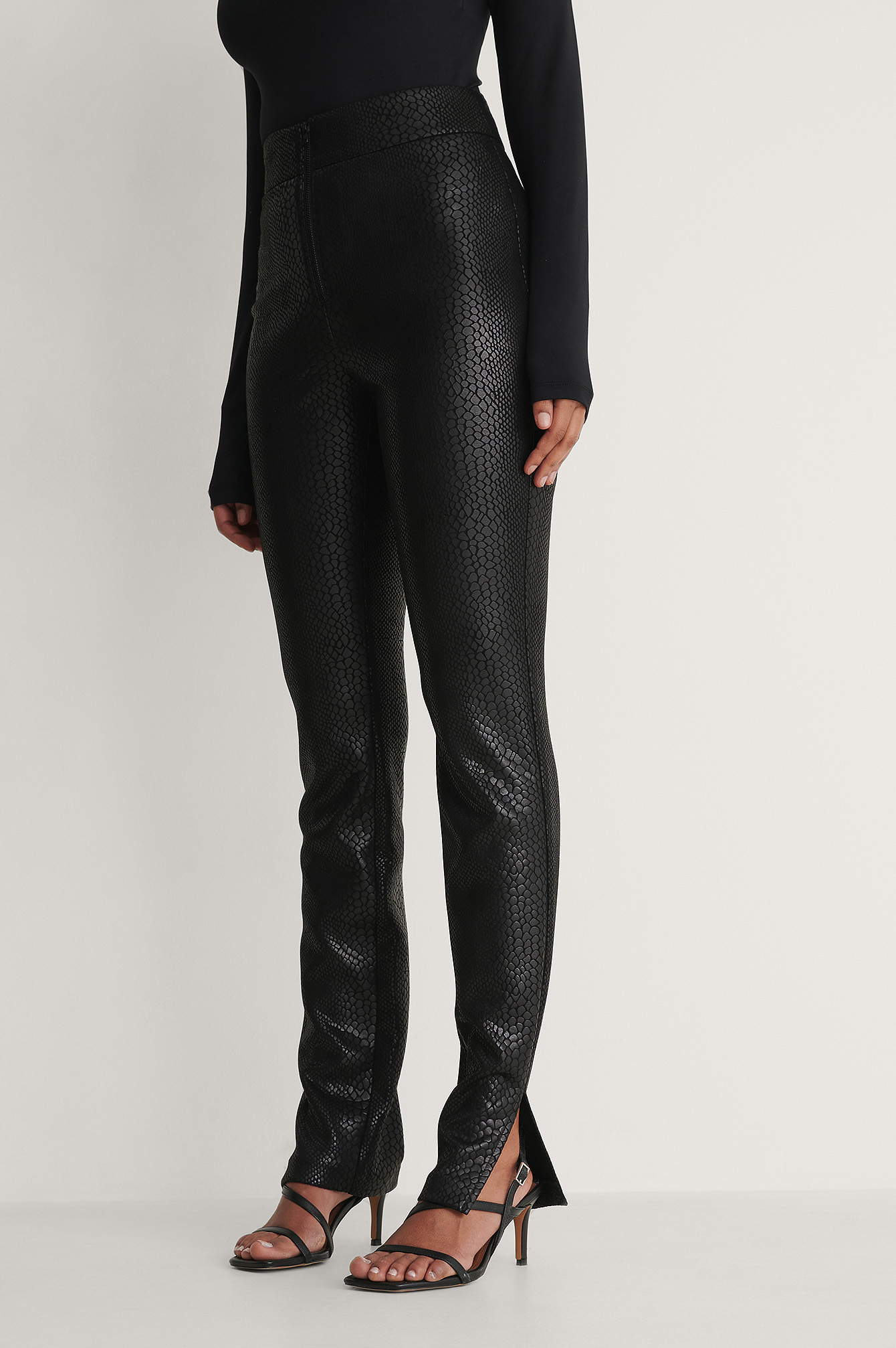 na-kd trend -  Front Zip Pants - Black