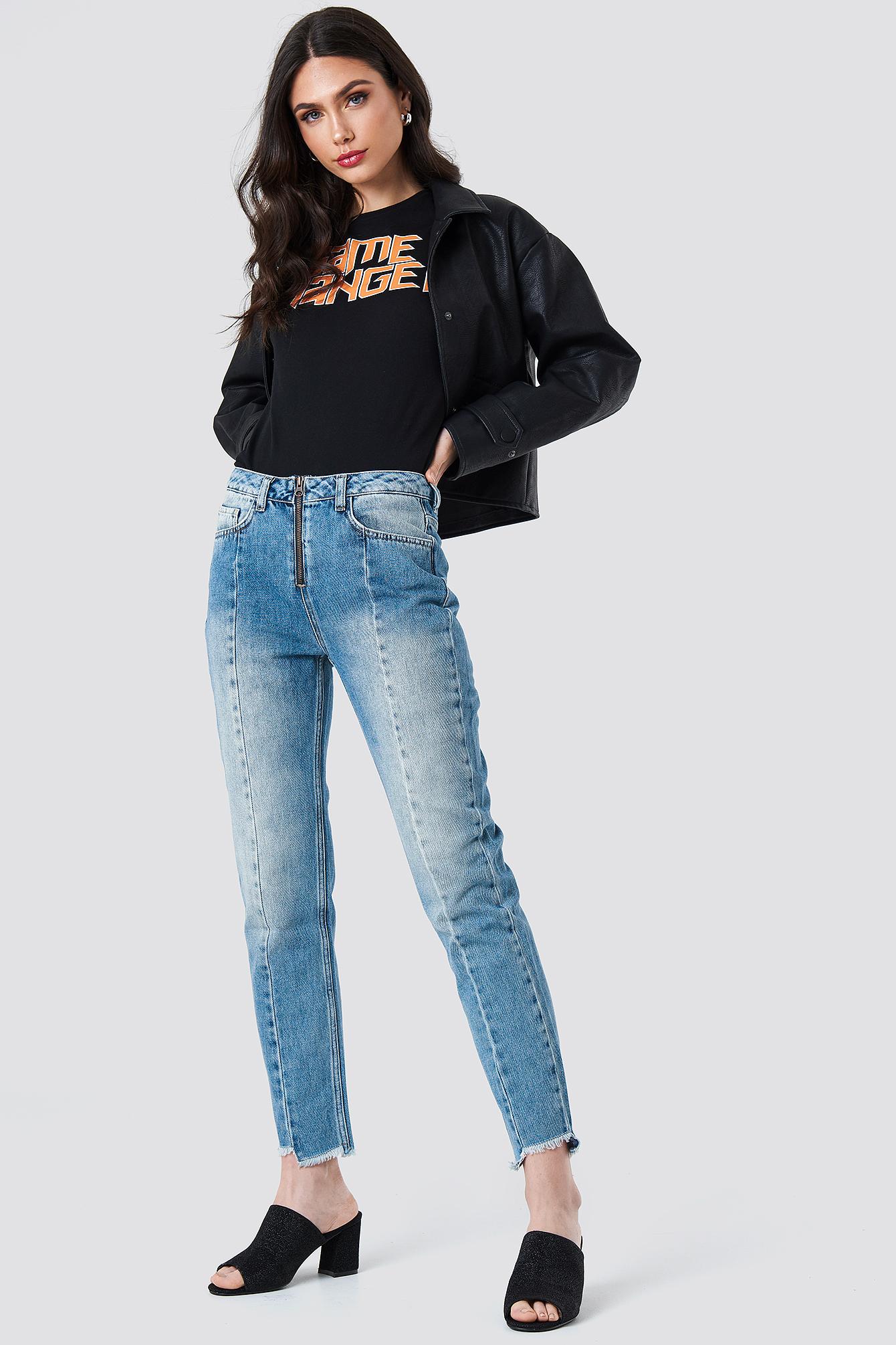 Front Zipper Panel Jeans NA-KD.COM