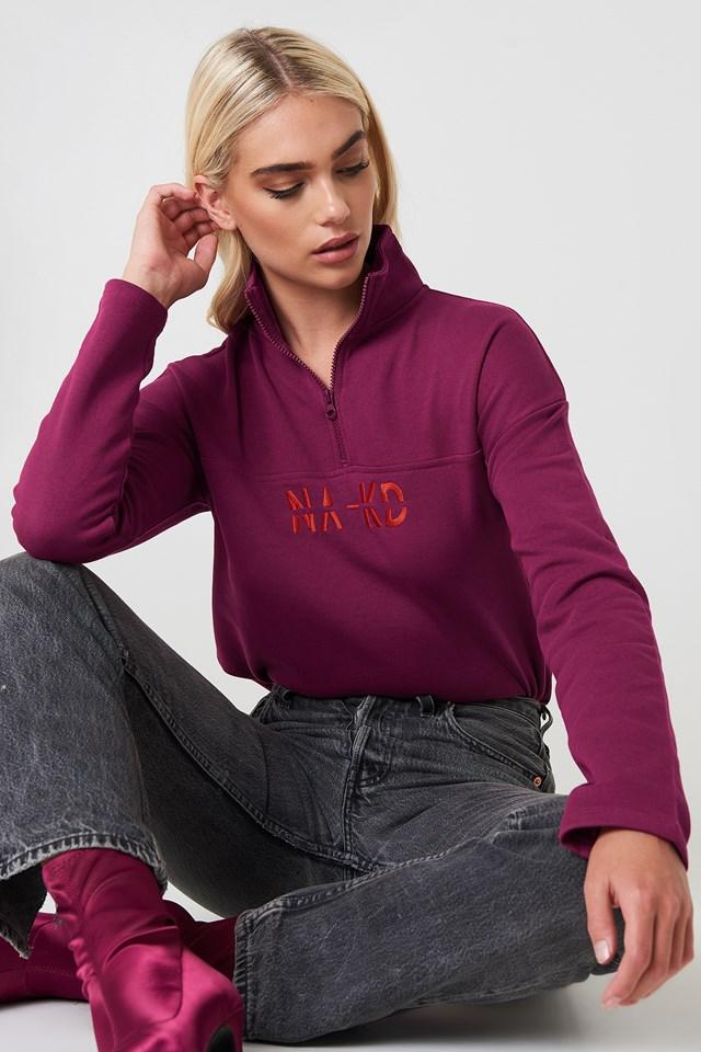 Bluza z suwakiem Burgundy
