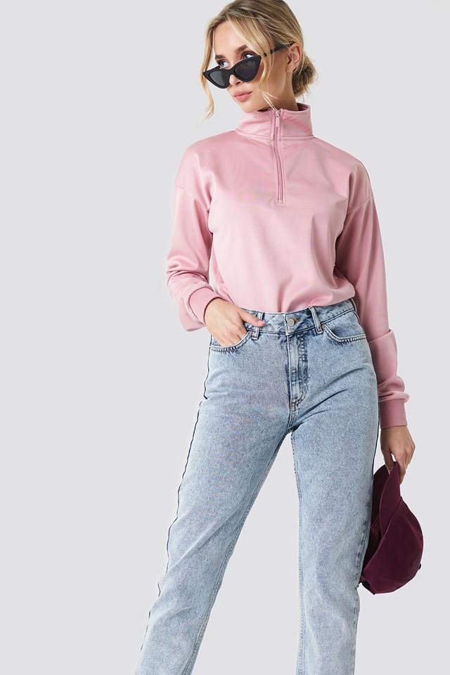 Front Zipper Track Sweatshirt NA-KD.COM