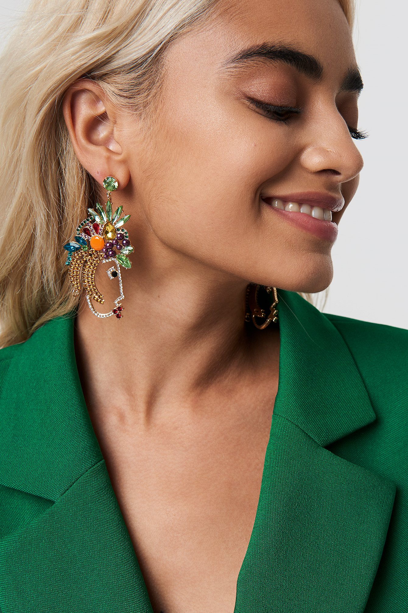 na-kd accessories -  Fruit Rhinestone Earrings - Multicolor
