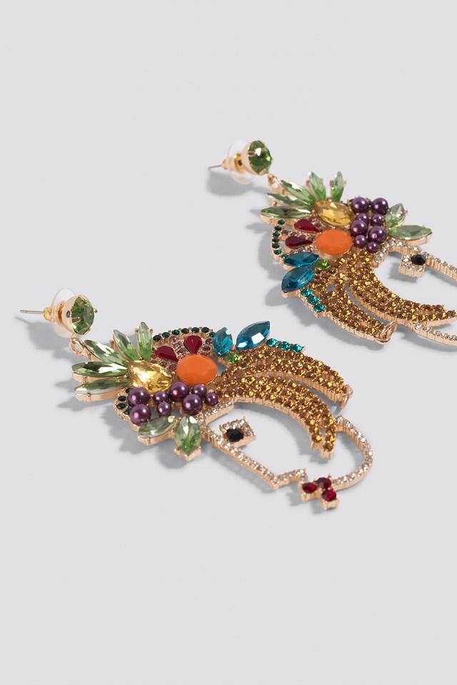 Fruit Rhinestone Earrings Mixed
