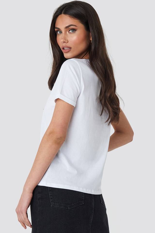 Funk Roll Hem T-shirt Optical White