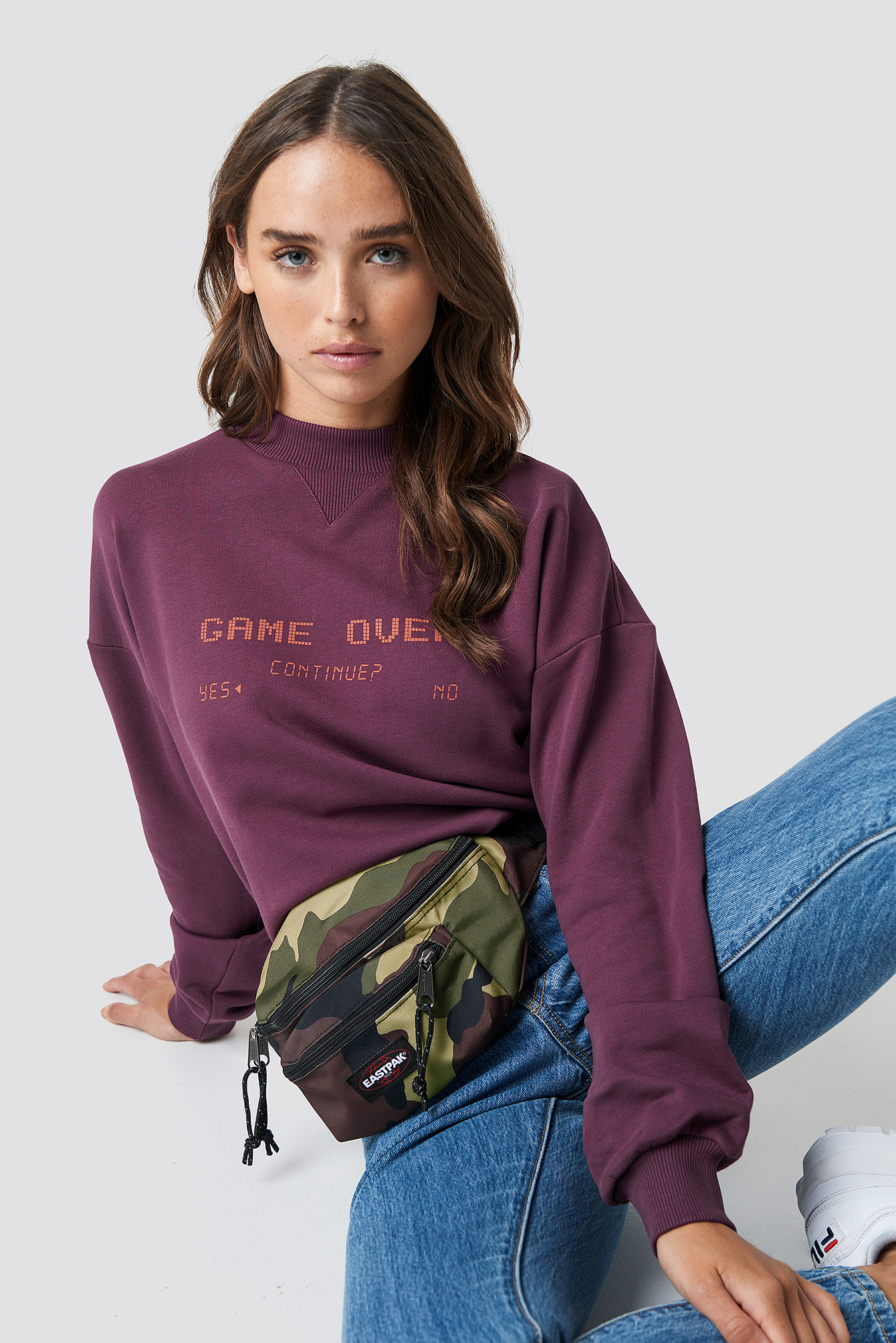 na-kd -  Game Over Sweatshirt - Purple