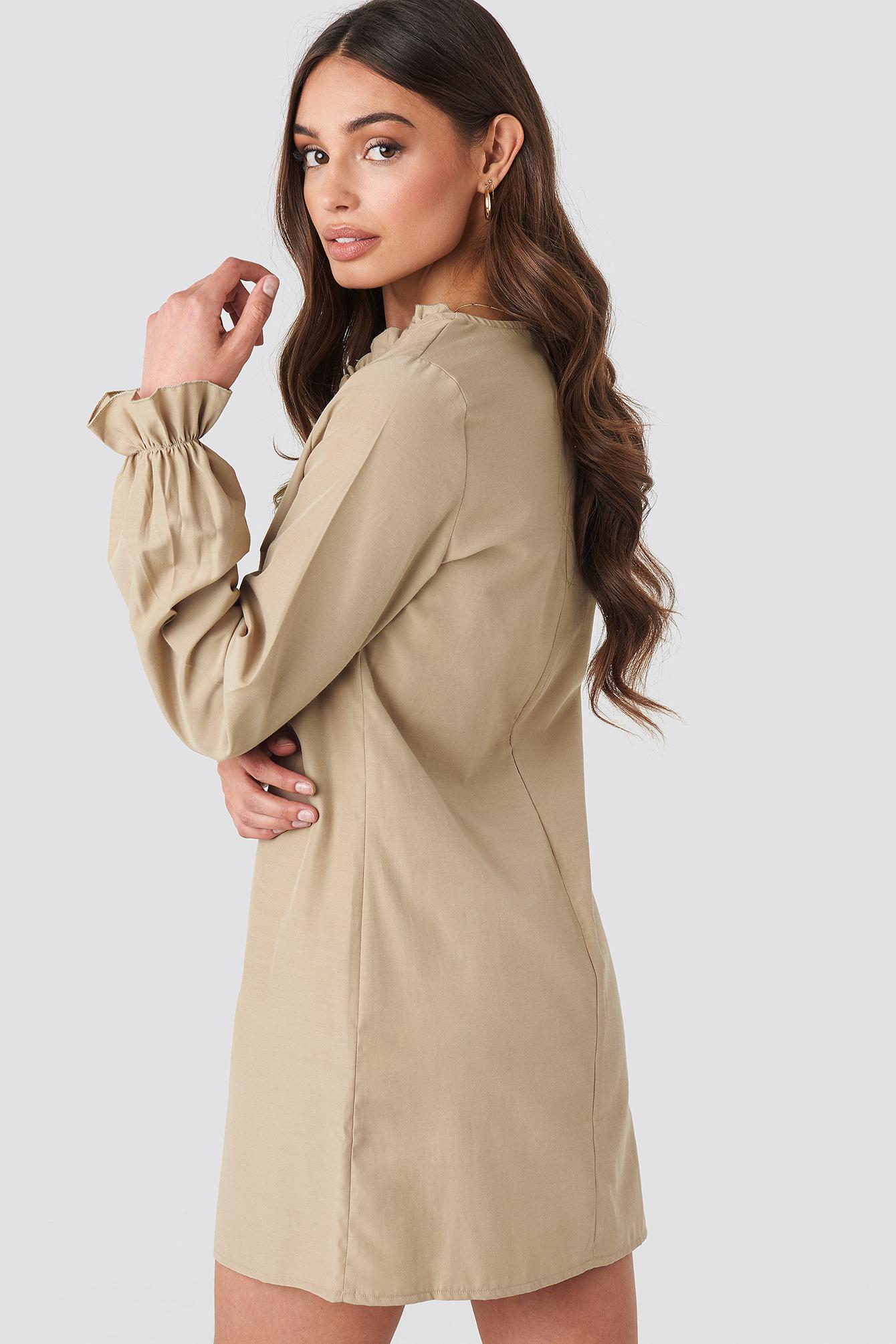 Gathered Neckline Oversize Dress NA-KD.COM
