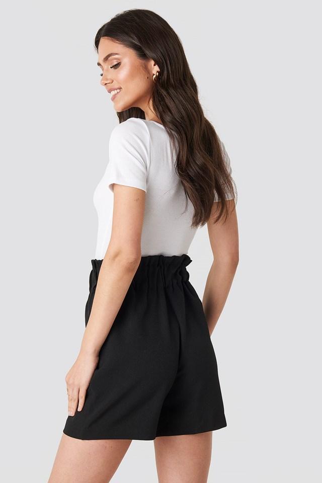 Gathered Shorts Black