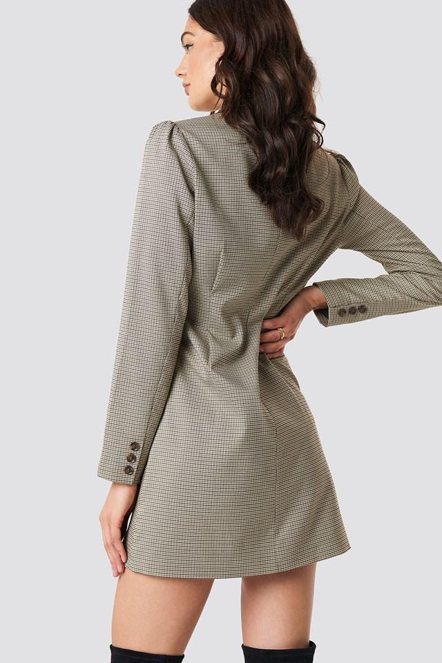 Gathered Waist Blazer Dress NA-KD.COM