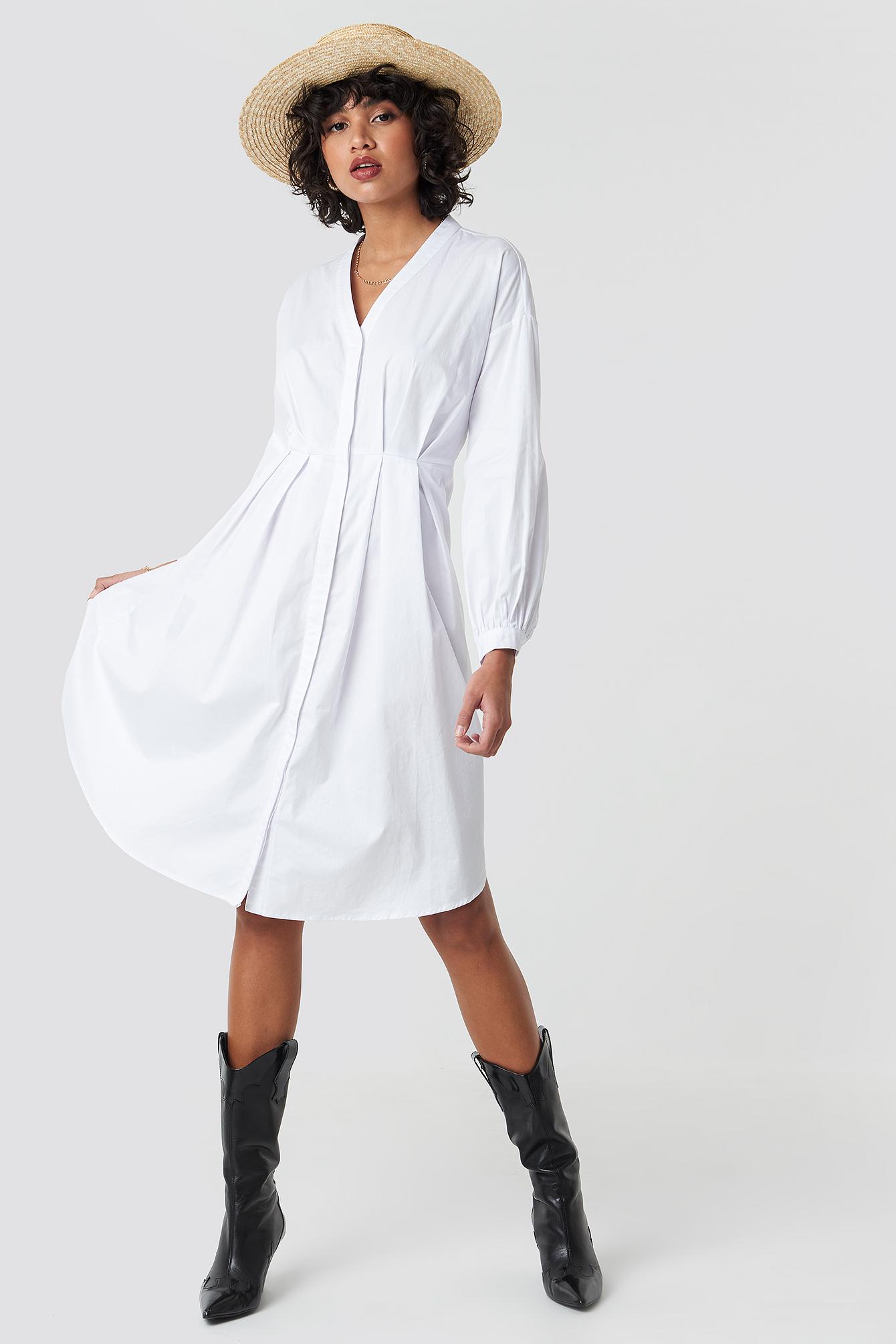Gathered Waist Shirt Dress NA-KD.COM