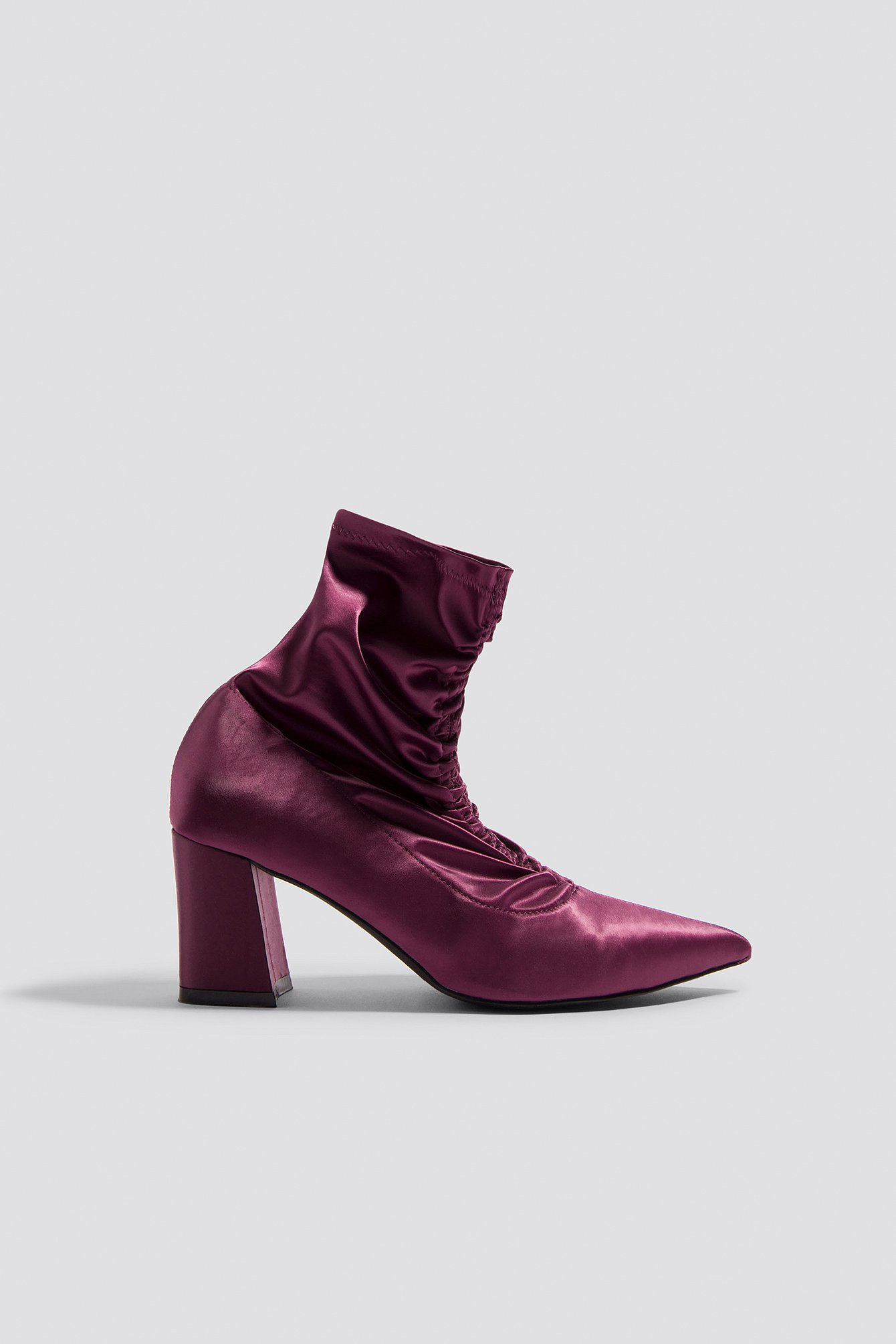 na-kd shoes -  Gathered Front Sock Boots - Purple