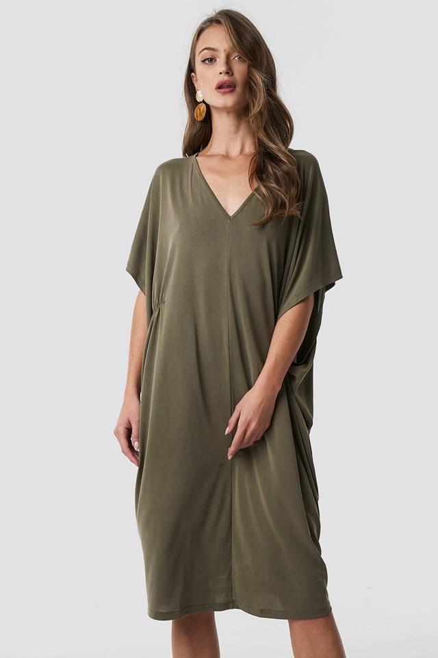 Gathering Detail Oversize Dress NA-KD