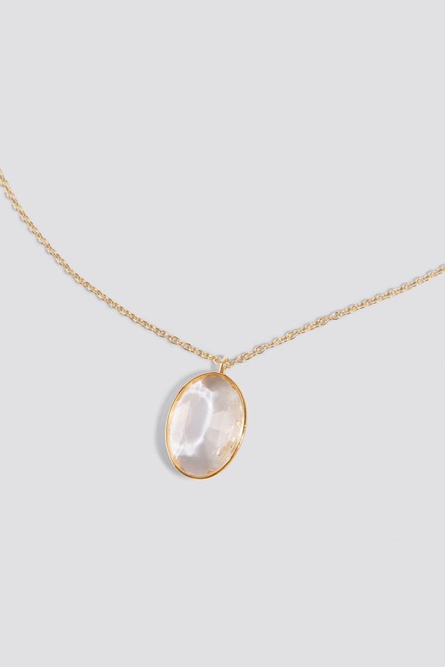 Glass Stone Necklace NA-KD.COM