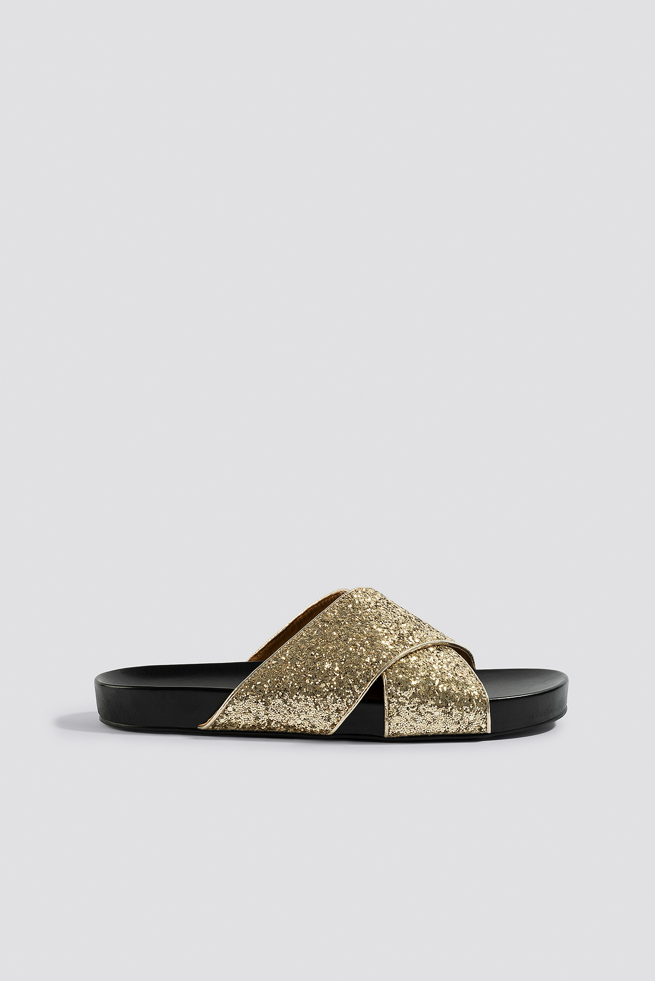 Glitter Cross Strap Slippers NA-KD.COM