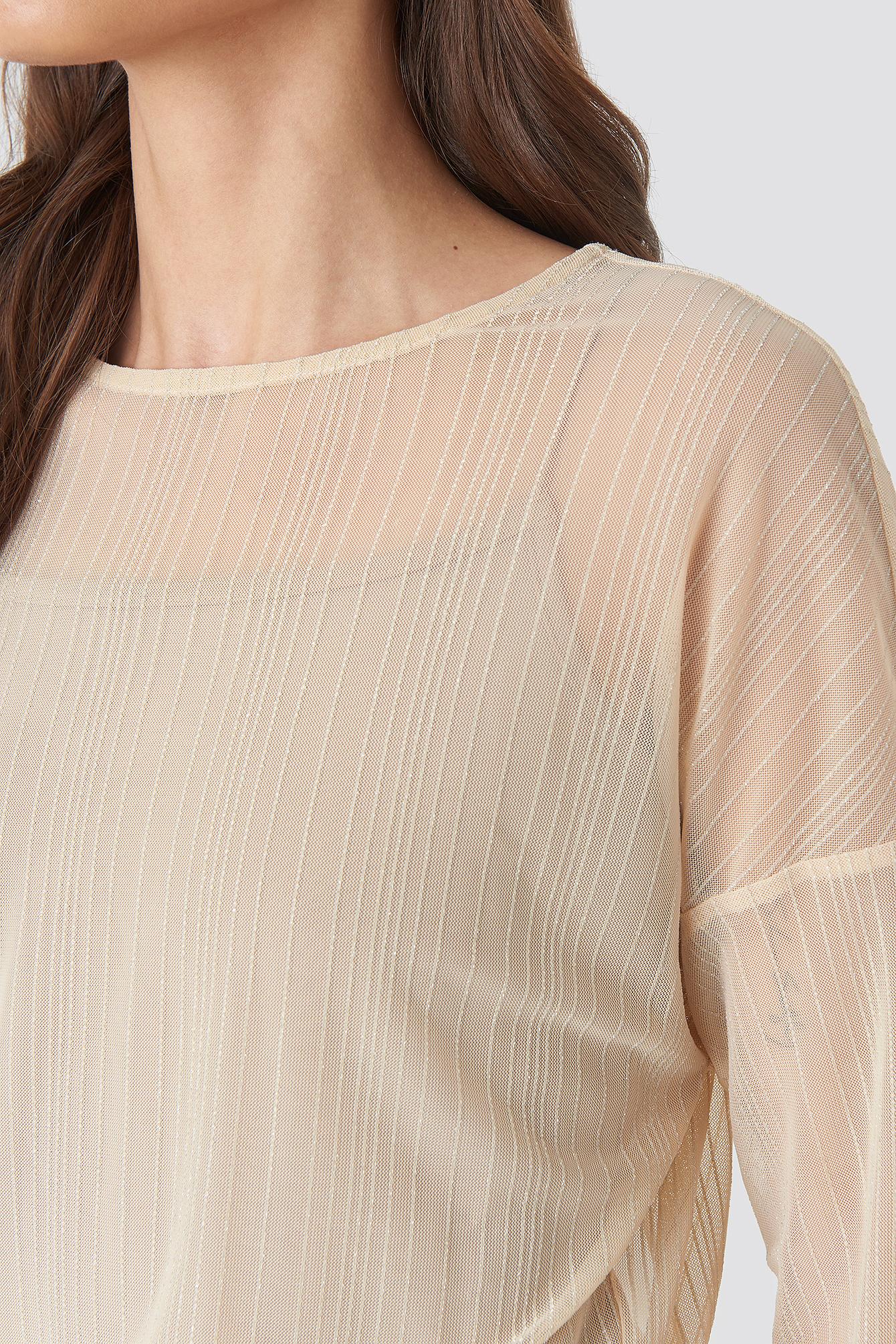 Glitter Detail Mini Dress NA-KD.COM