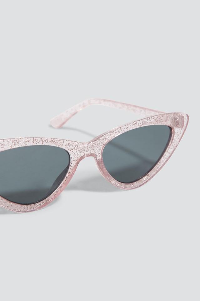 Glittery Cat Eye Sunglasses NA-KD.COM