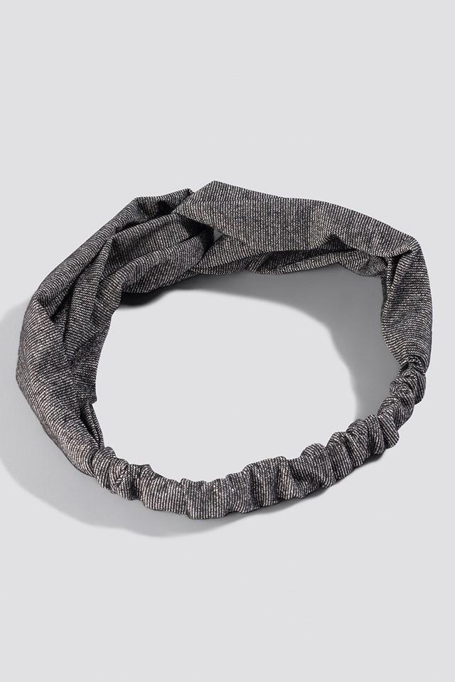 Glittery Hairband Grey Glitter