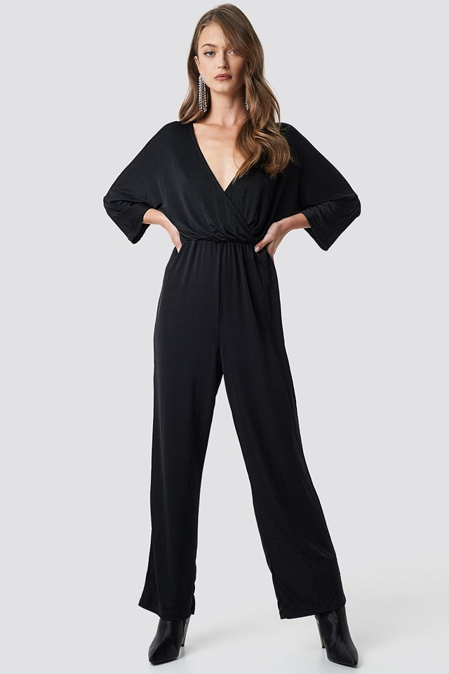 Glittery Jumpsuit Black