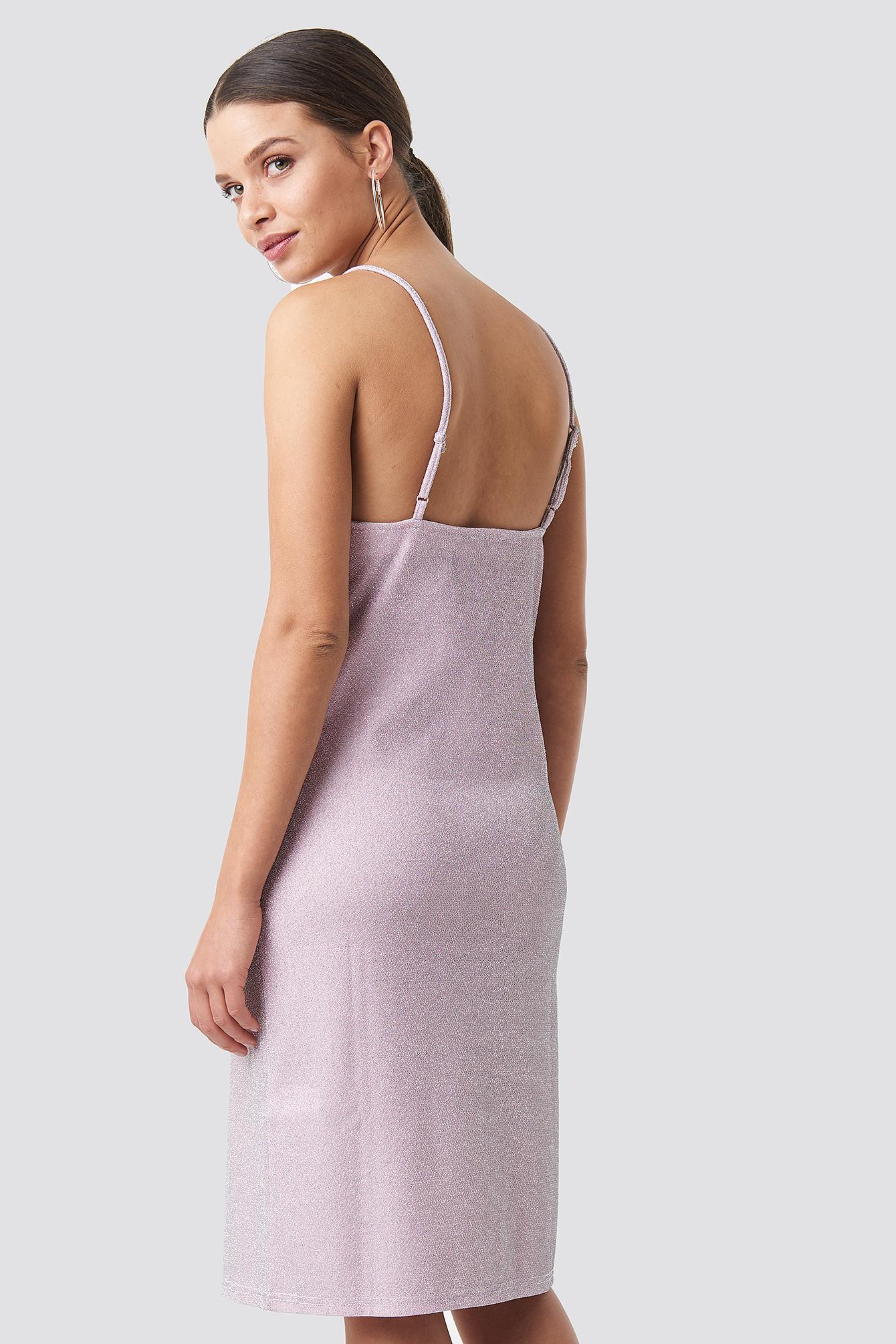 Glittery Slip Dress NA-KD.COM