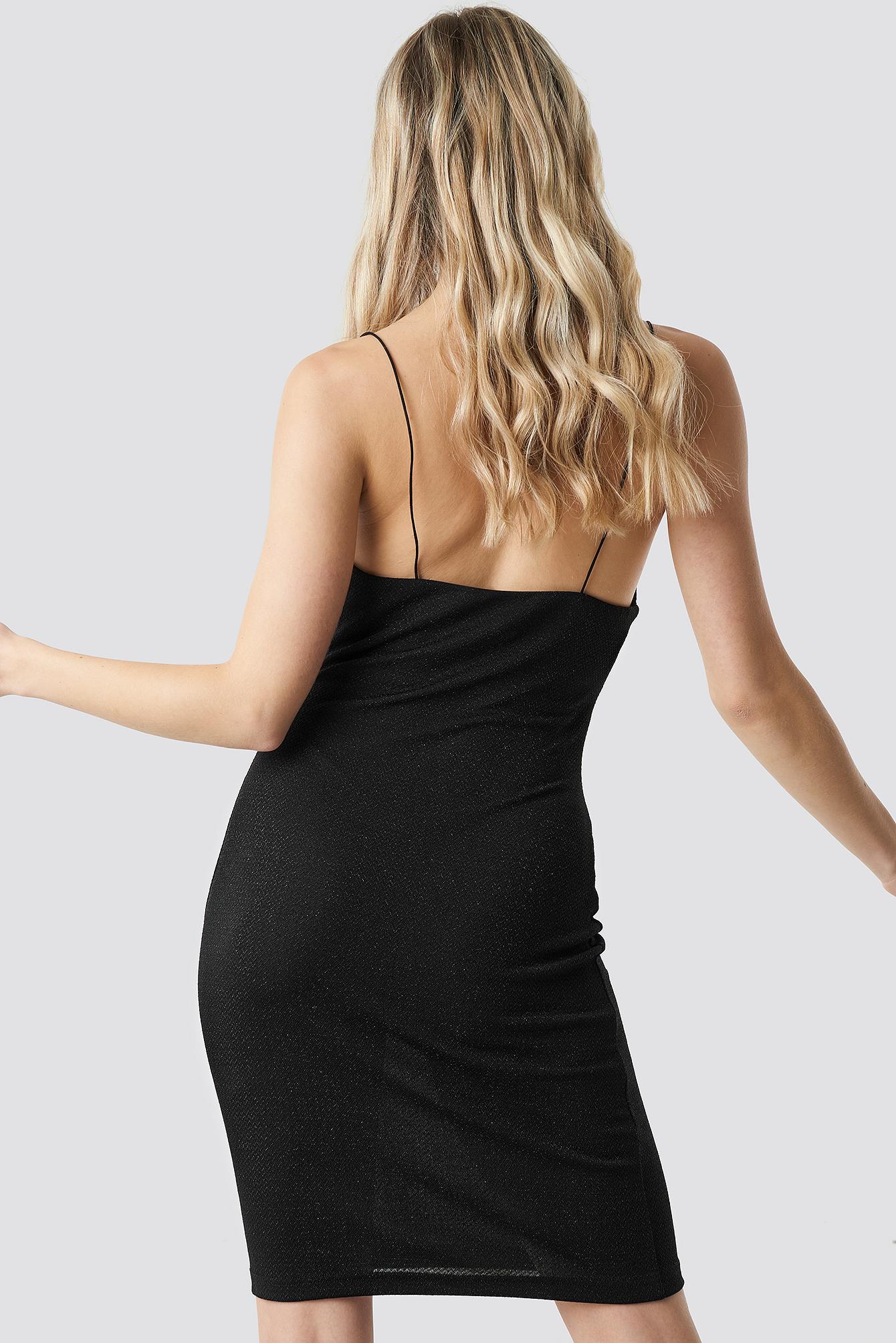 Glittery Spaghetti Strap Dress NA-KD.COM