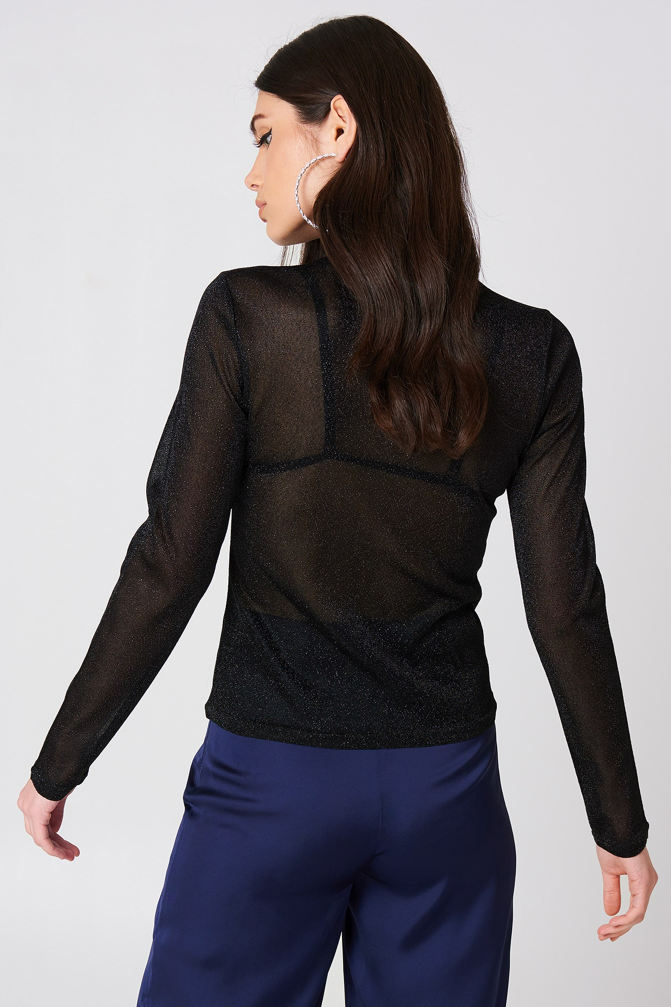 Glittery Turtleneck Top NA-KD.COM