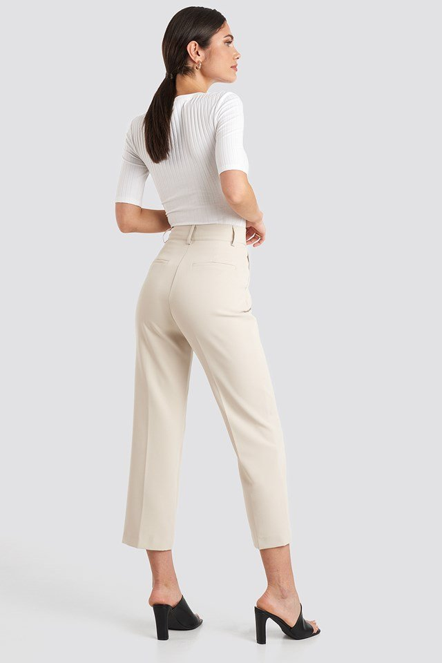 Gold Button Suit Pants Offwhite