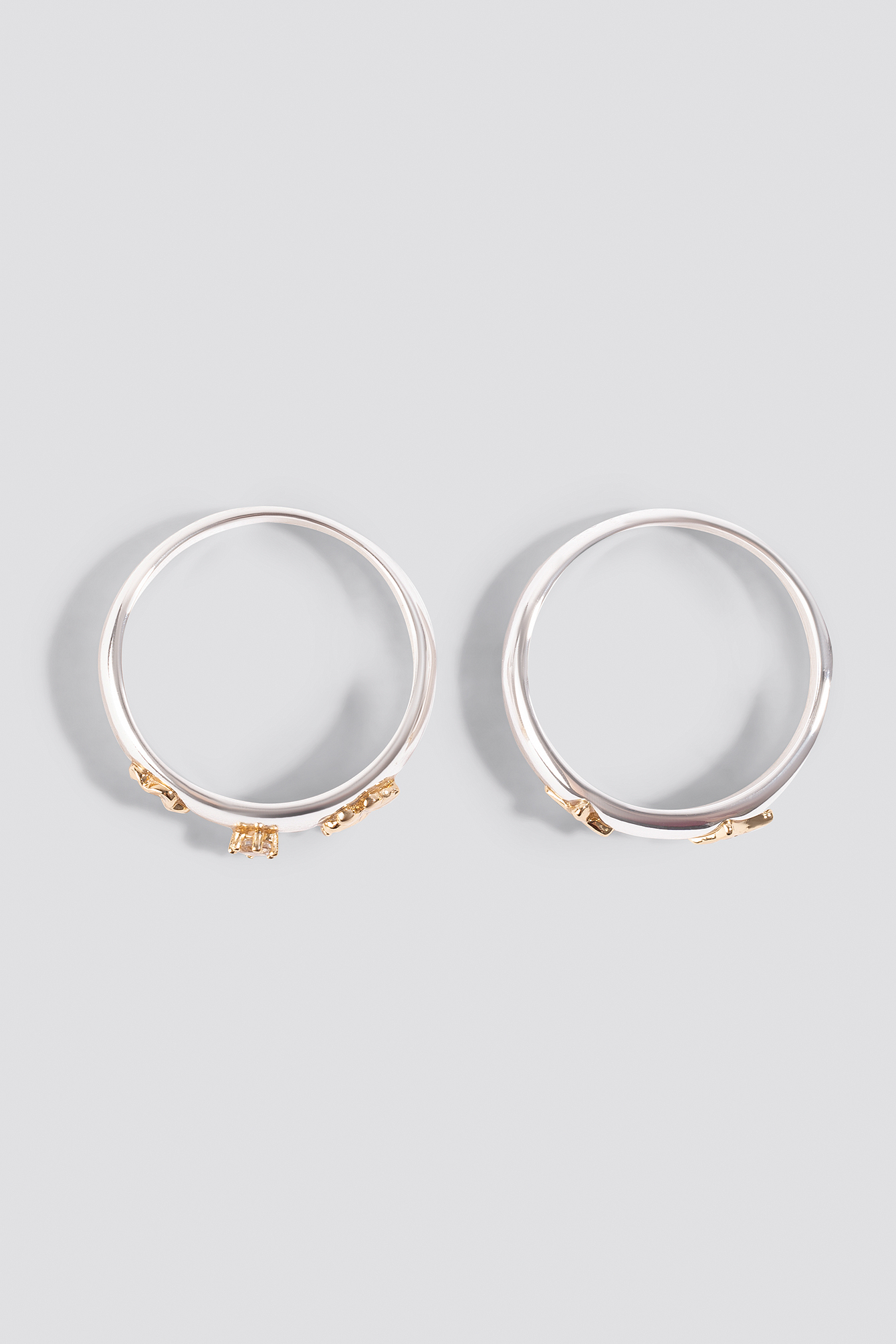 Gold Detailed Rings NA-KD.COM