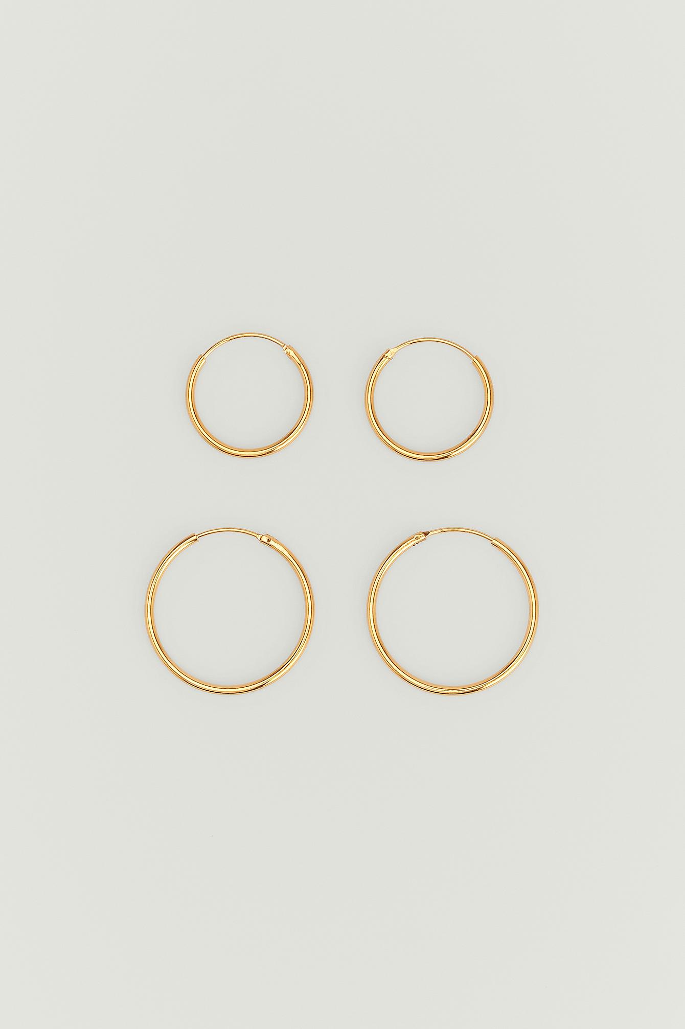 NA-KD Accessories Tynde øreringe med guldbelægning - Gold