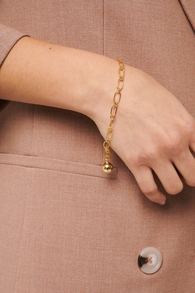 Gold Plated Thin Chain Bracelet Gold