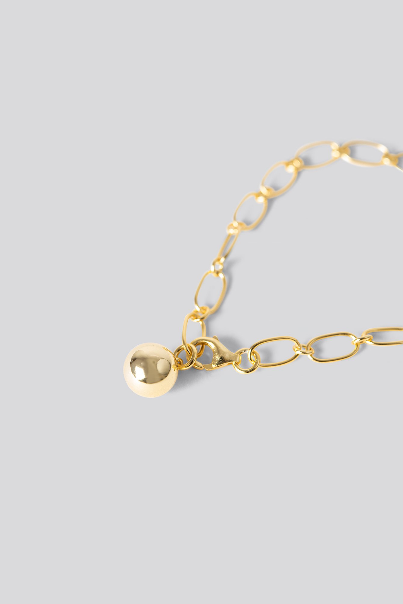 NA-KD Accessories Gold Plated Thin Chain Bracelet - Gold