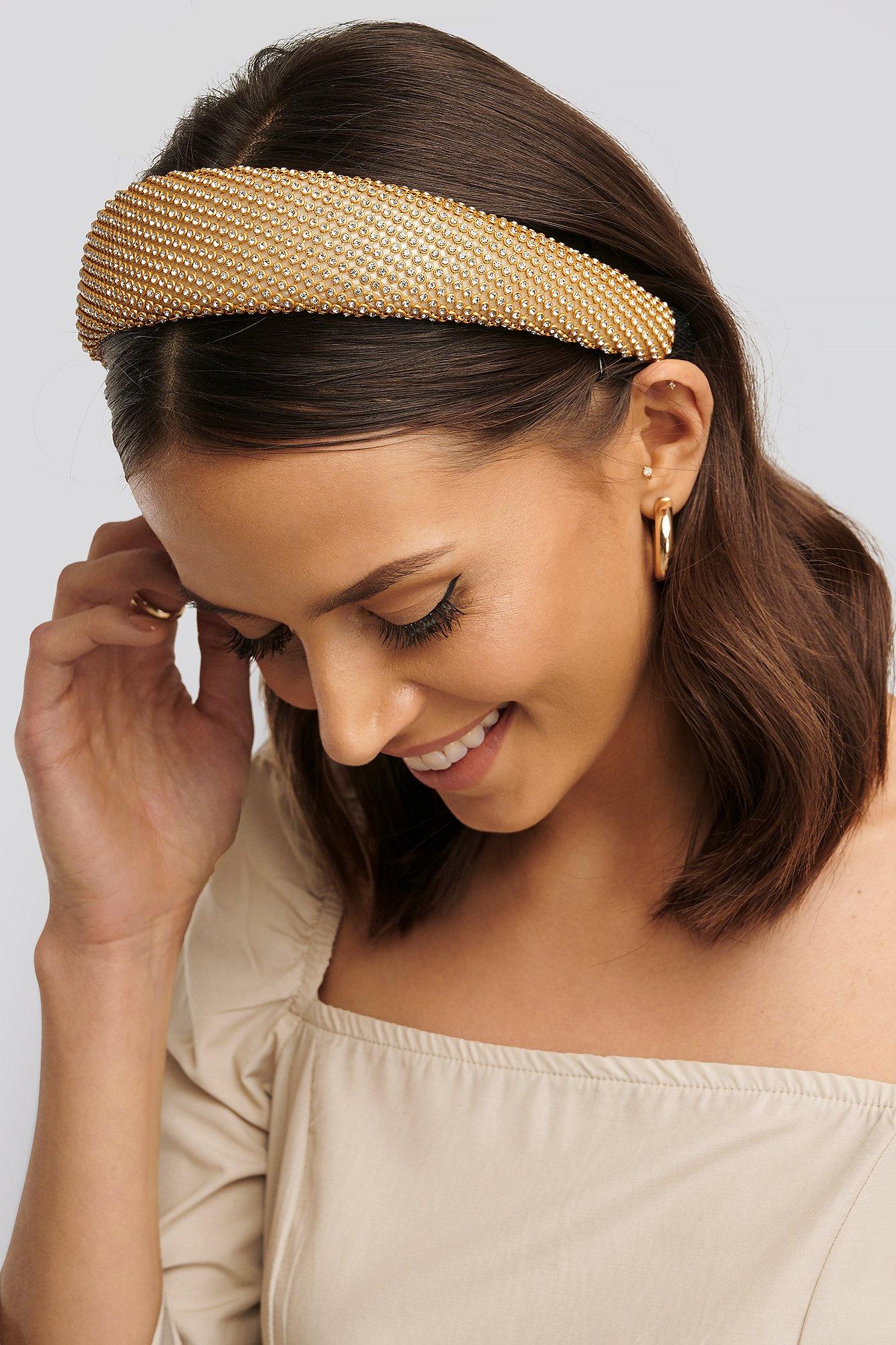 NA-KD Accessories Strassstein Stirnband - Gold | Accessoires > Mützen > Stirnbänder | NA-KD Accessories