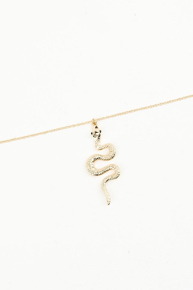 Gold Snake Necklace Gold