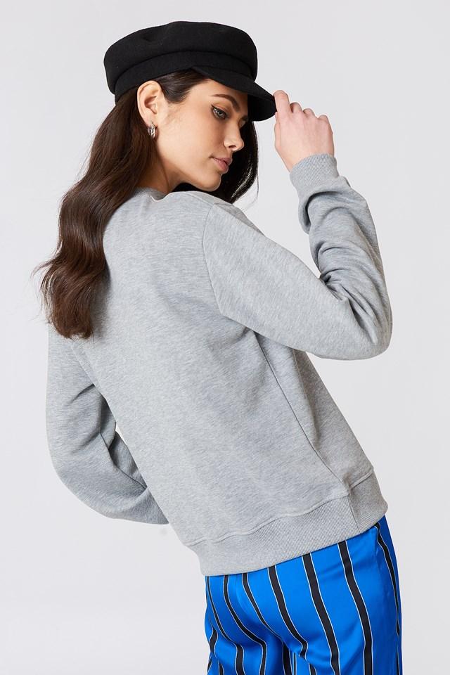 Good Vibes Sweatshirt Grey Melange