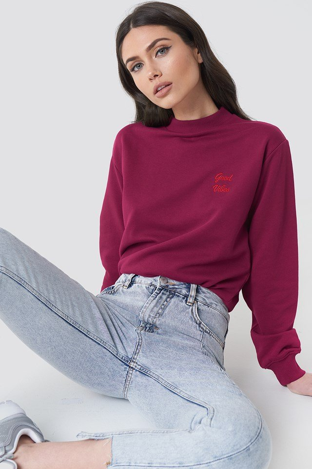 Good Vibes Sweatshirt Burgundy