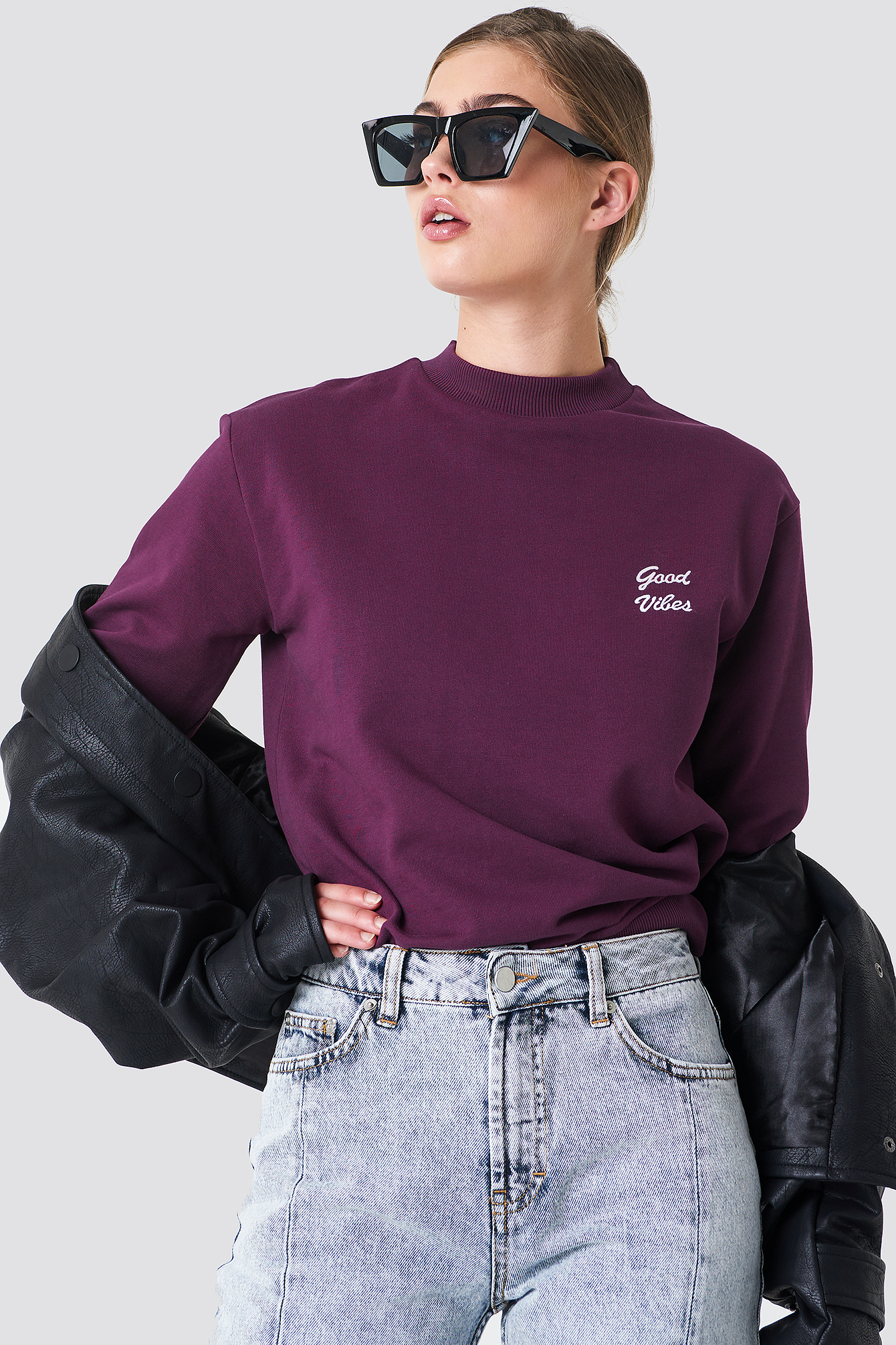Good Vibes Sweatshirt NA-KD.COM
