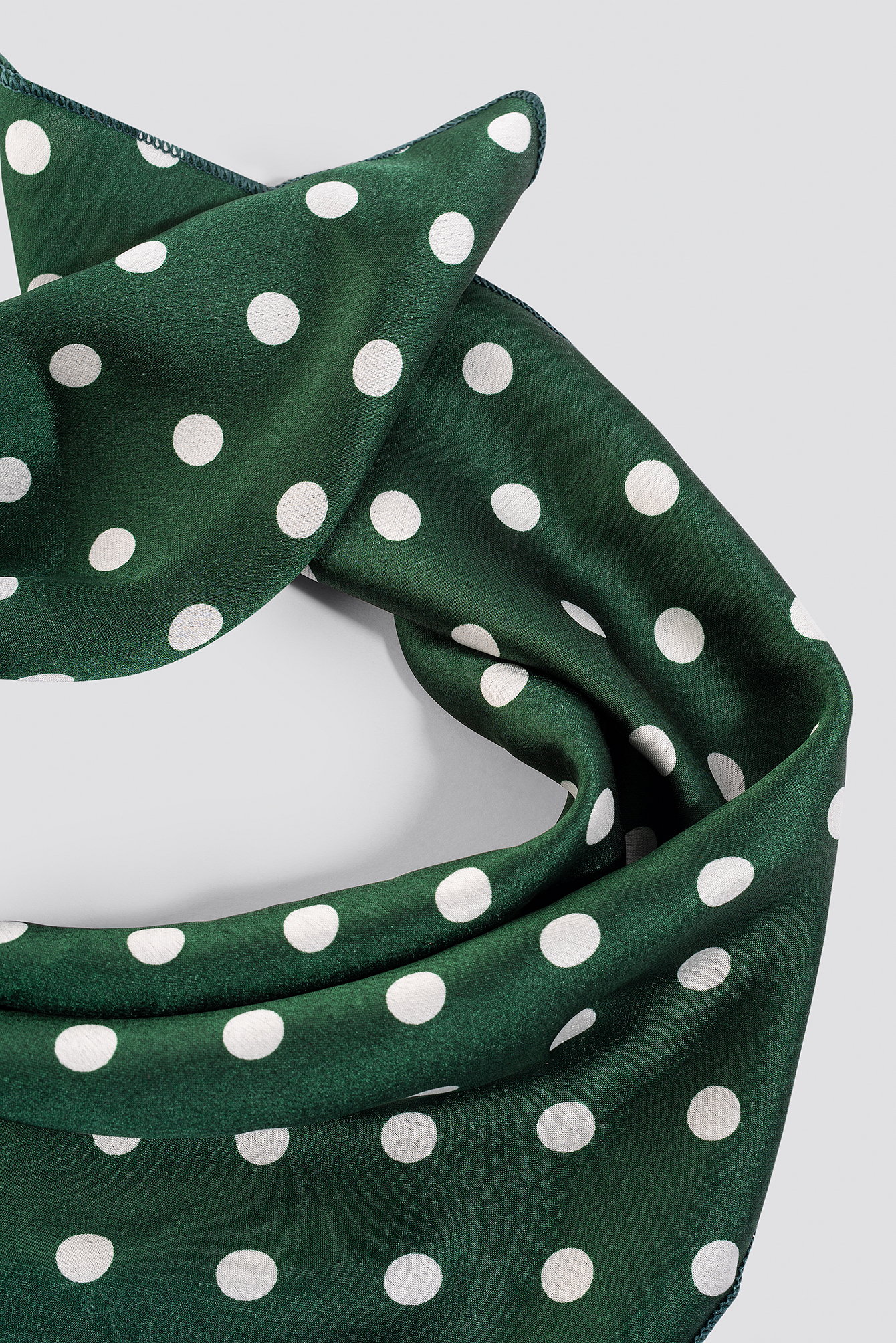 Green Dotted Satin Scarf NA-KD.COM