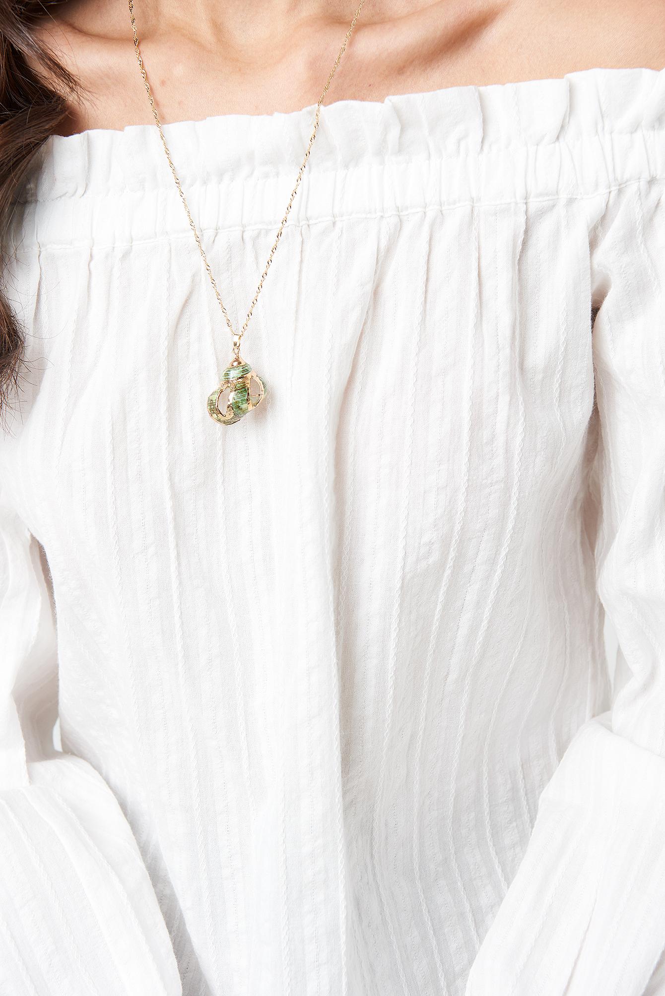 Green Shell Necklace NA-KD.COM