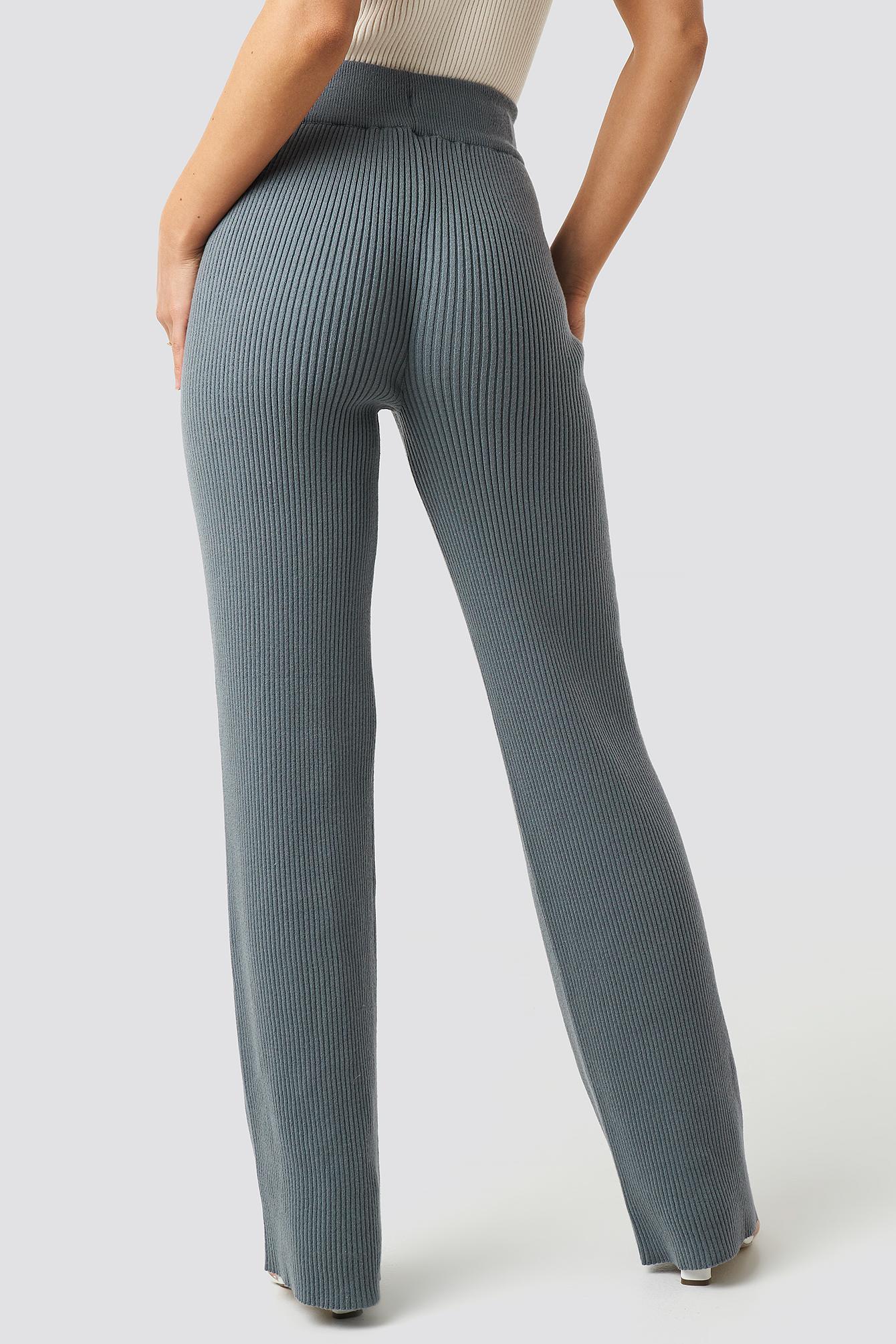 Greg Rib Knitted Pants NA-KD.COM