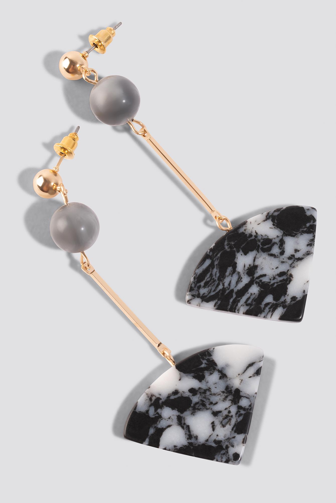 Grey Marble Earrings NA-KD.COM
