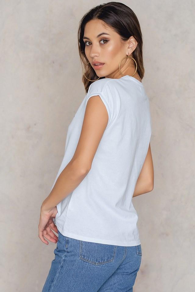 GRL PWR Printed T-shirt White