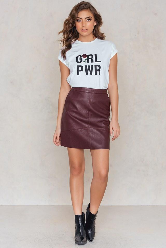 GRL PWR Rose T-shirt NA-KD.COM